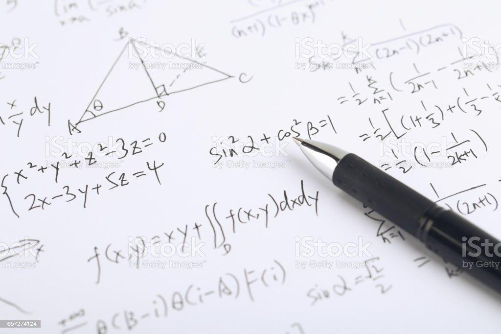 Math Concept stock photo
