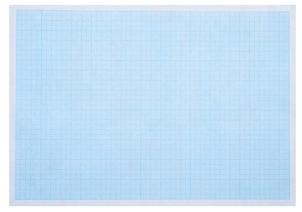Math concept with sheet of blue graph paper background stock photo
