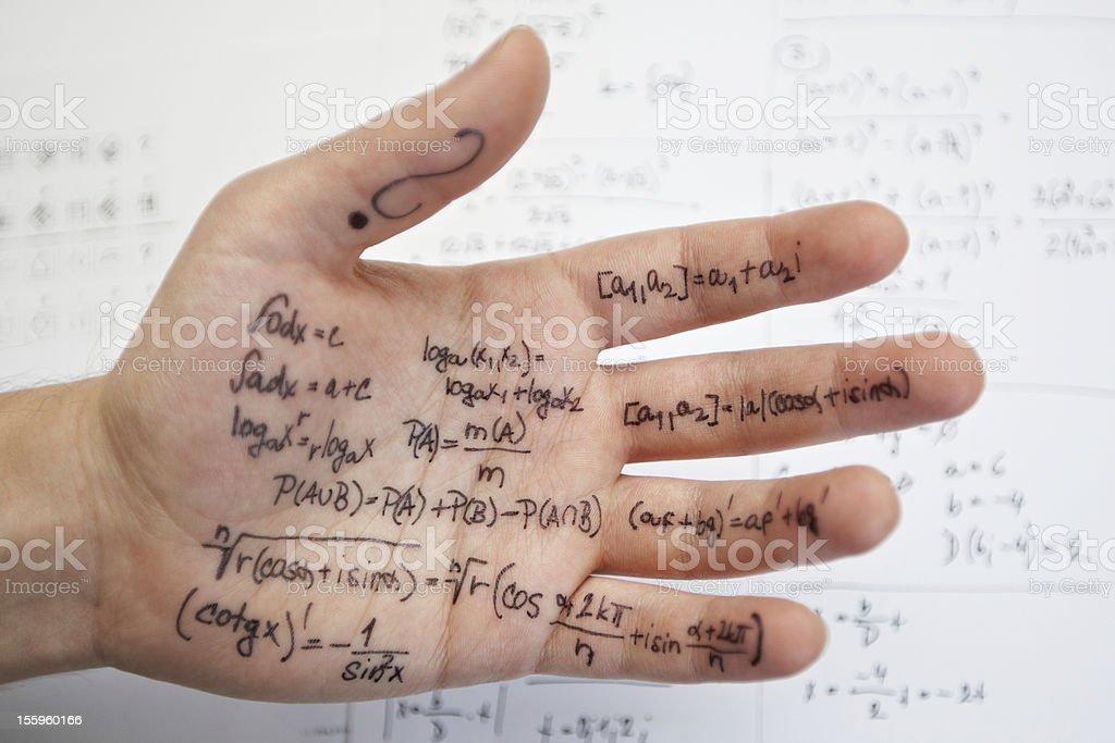 Math exam stock photo