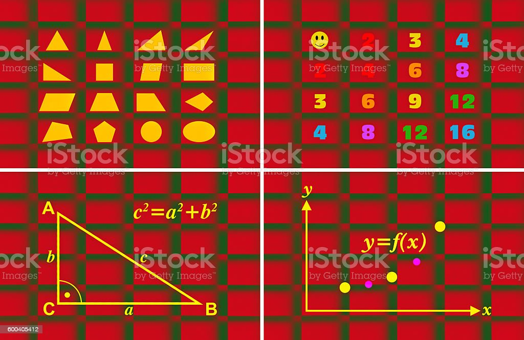Math for children stock photo