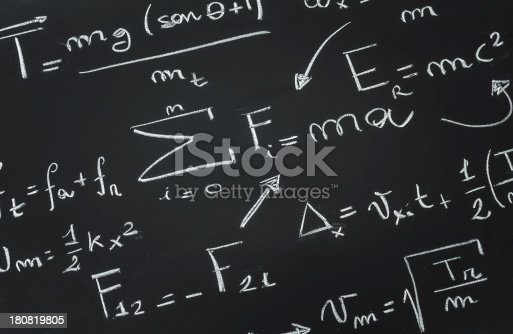 istock Math formulas on blackboard 180819805