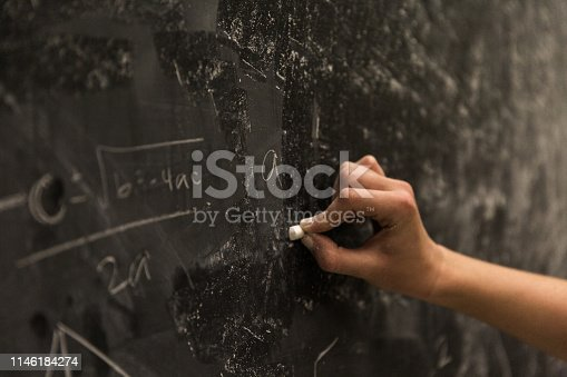 istock Math Formulas on Chalkboard 1146184274