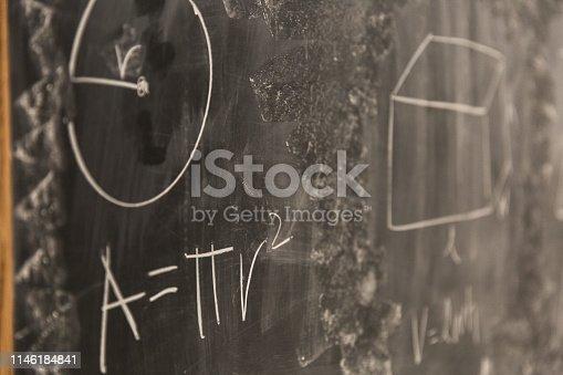 istock Math Formulas on Chalkboard 1146184841
