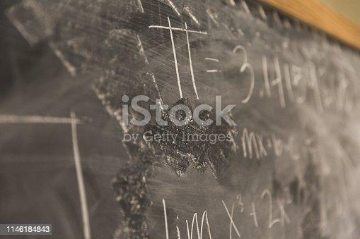 istock Math Formulas on Chalkboard 1146184843