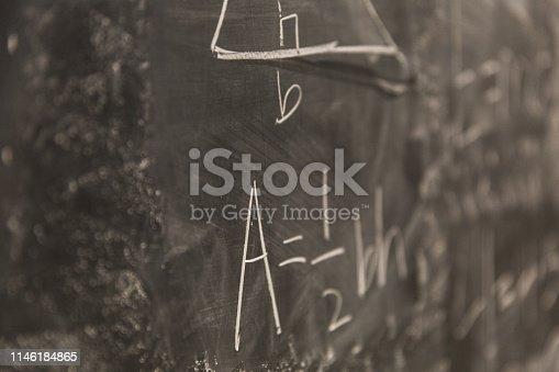 istock Math Formulas on Chalkboard 1146184865