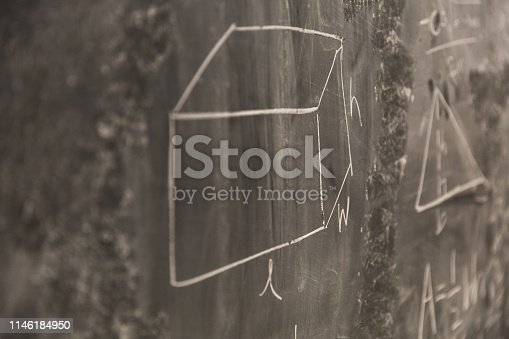 istock Math Formulas on Chalkboard 1146184950