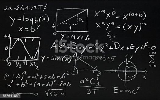 istock math formulas on school blackboard education 537641652