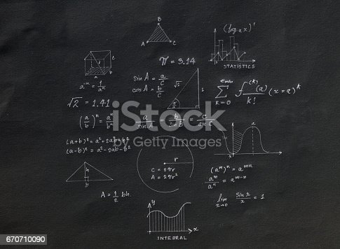688090582 istock photo Math geometry formulas 670710090