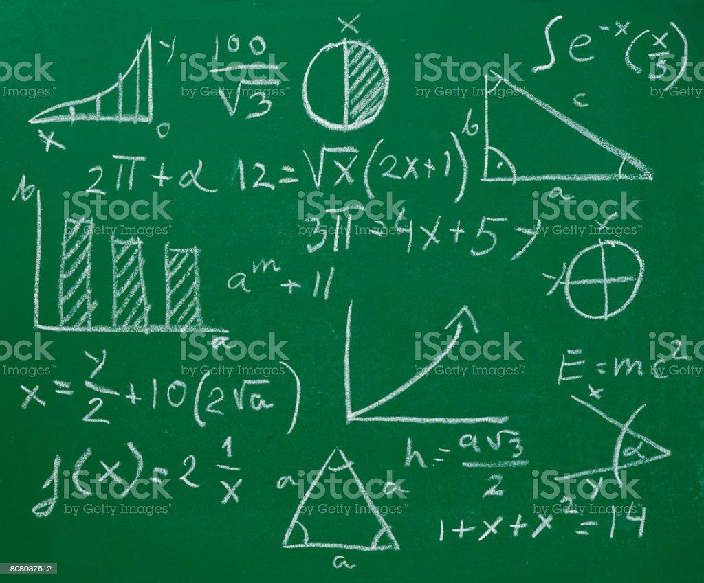 math mathematics formula chalkboard blackboard stock photo