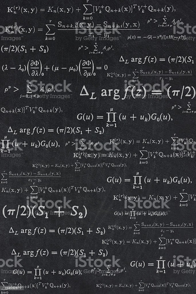 Math on the blackboard stock photo