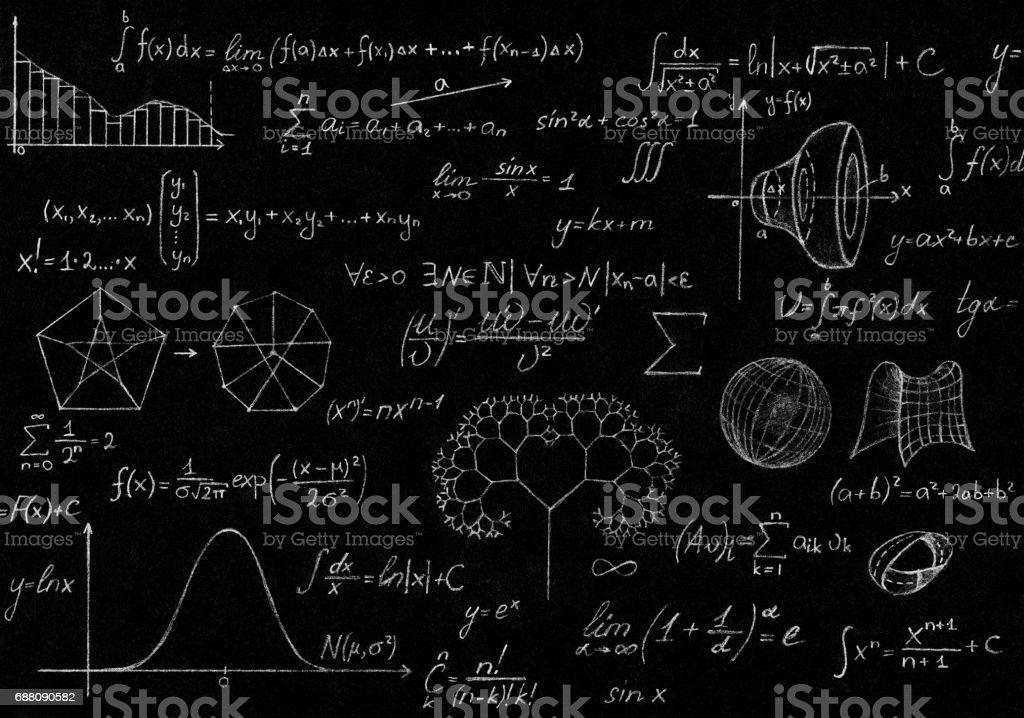 Math, physics formulas stock photo