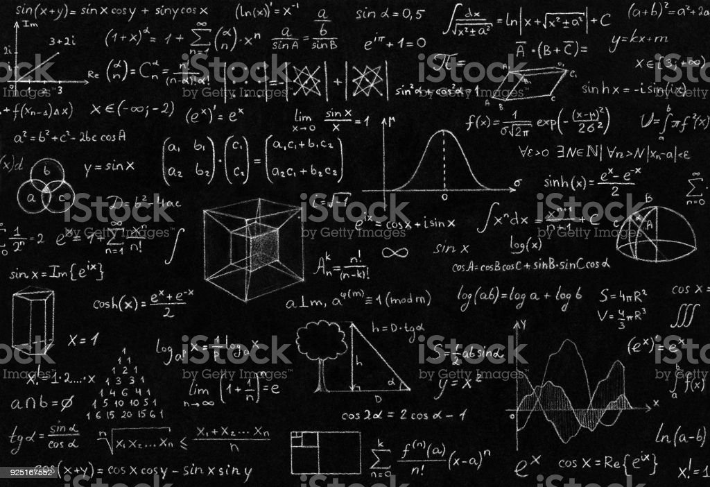 Math, physics formulas stock photo