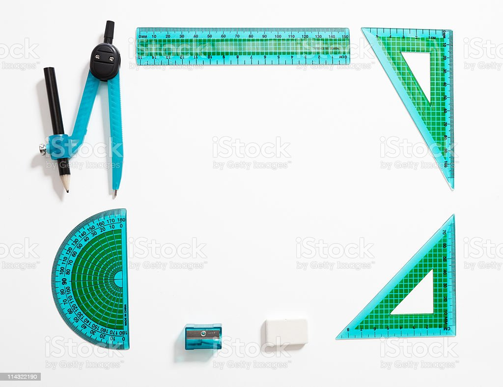 Math set border royalty-free stock photo