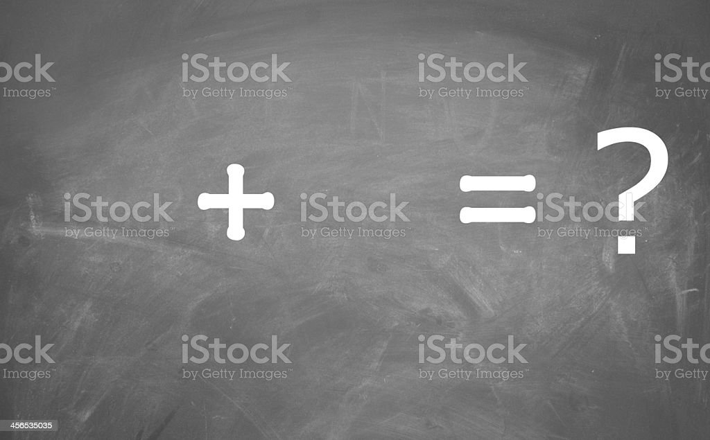 math sign stock photo