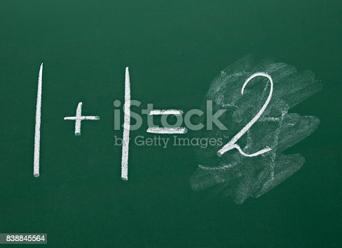 532357605istockphoto math simple equation on chalk board mathematics 838845564