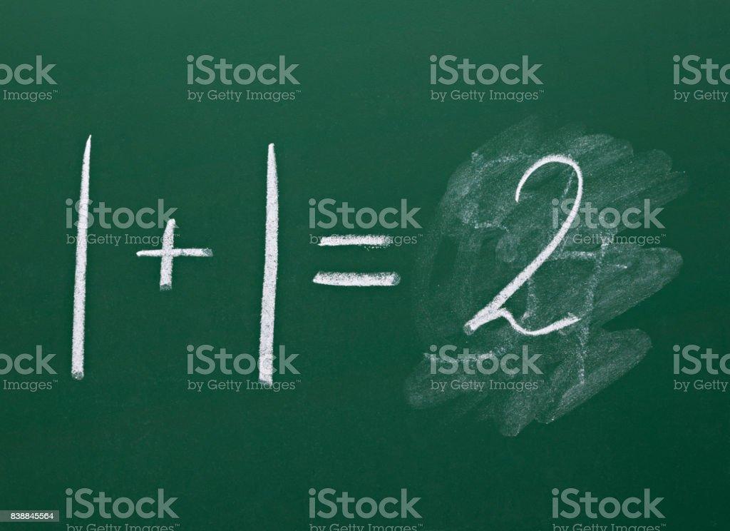 math simple equation on chalk board mathematics stock photo