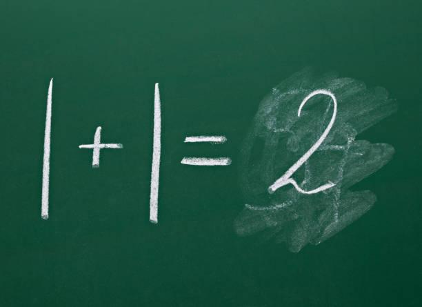 분필 보드 수학 수학 간단한 방정식 - formula 1 뉴스 사진 이미지