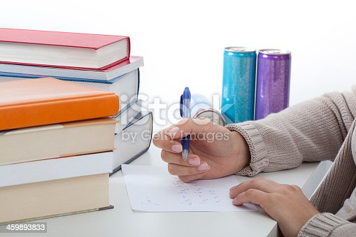 istock Math student learning for exam 459893833