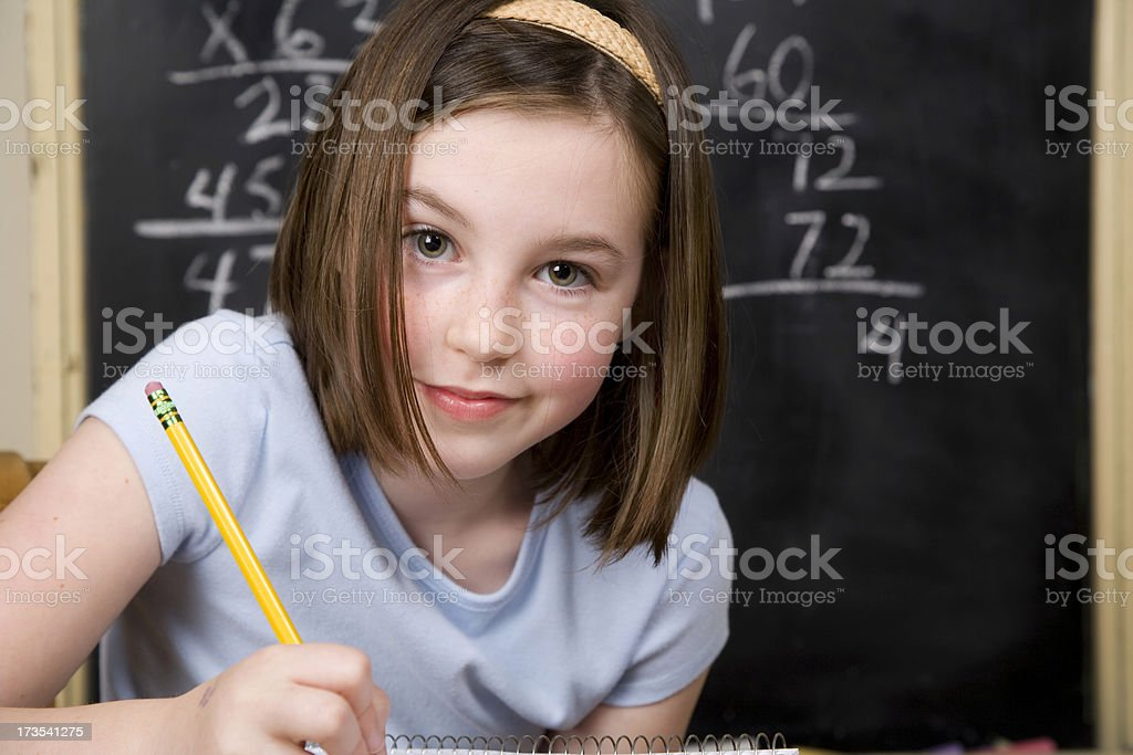 Math Student royalty-free stock photo