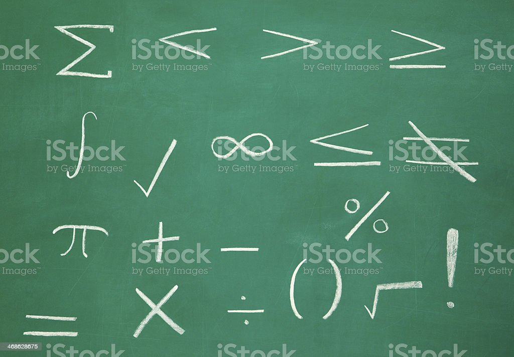 Math Symbols On Blackboard Stock Photo More Pictures Of Algebra