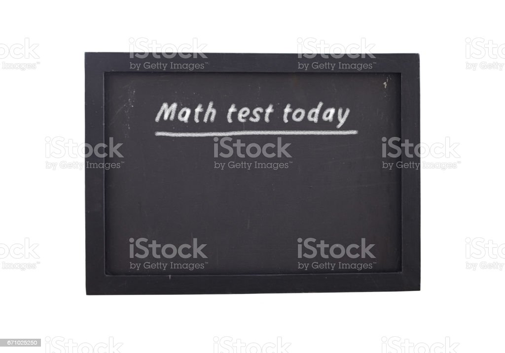 Math test today stock photo