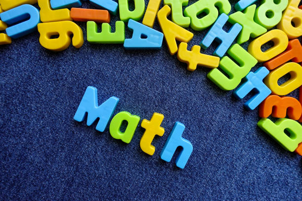 Math with colorful letters. Education concept. stock photo