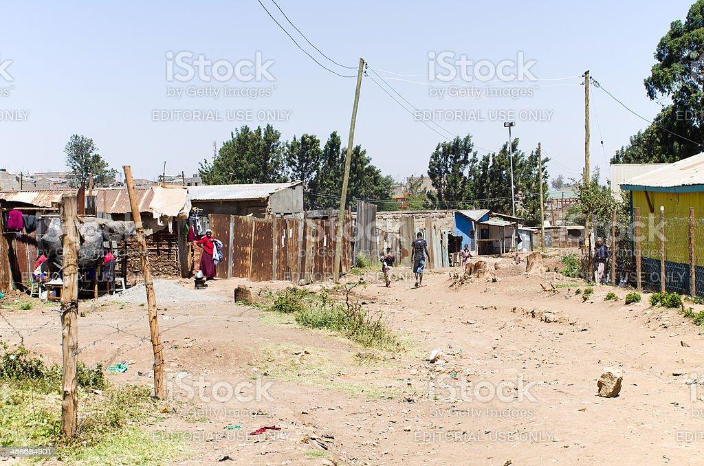 Mathare Slum in Nairobi Kenya stock photo