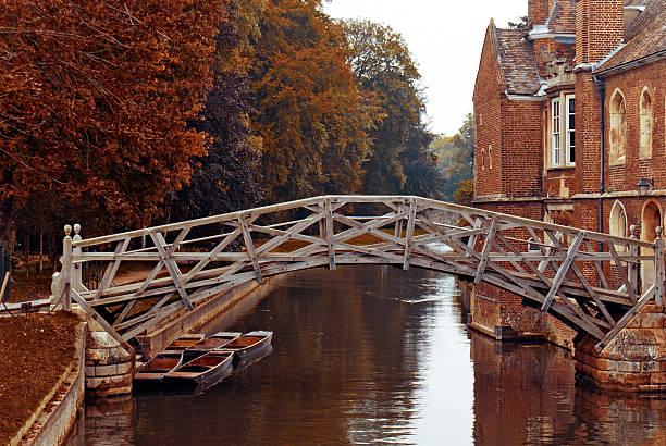 Mathematical bridge, Cambridge stock photo