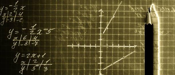 Mathematical education stock photo