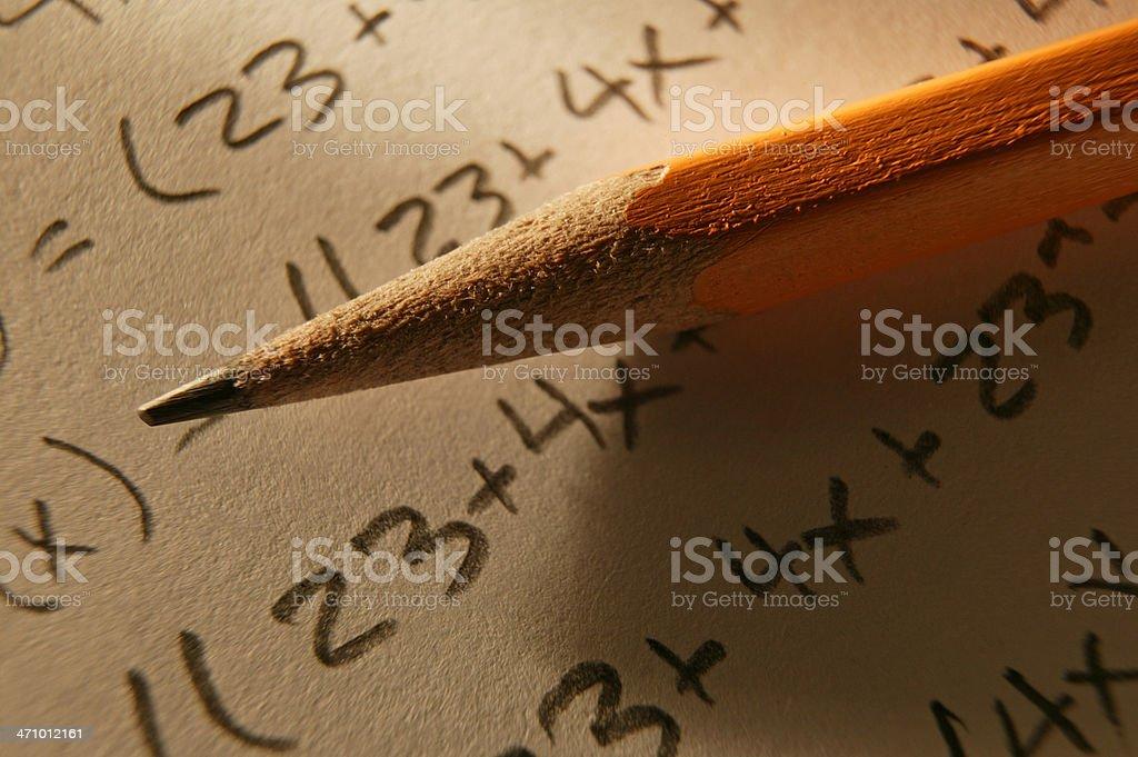 Mathematical Equation 2 royalty-free stock photo