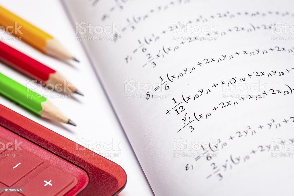 Mathematical formula royalty-free stock photo
