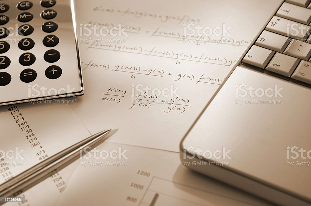 mathematical formula series royalty-free stock photo