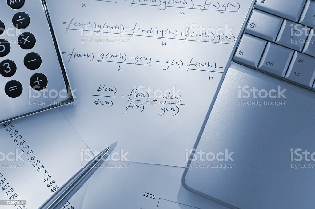 mathematical formula series royalty-free stock photo