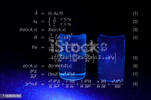 istock Mathematical formulas and calculations 1163905293