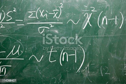 istock mathematical formulas on a blackboard 114268427