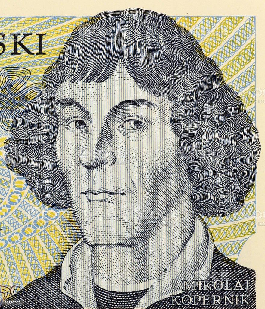 Mathematician Nicolaus Copernicus in life-like illustration stock photo