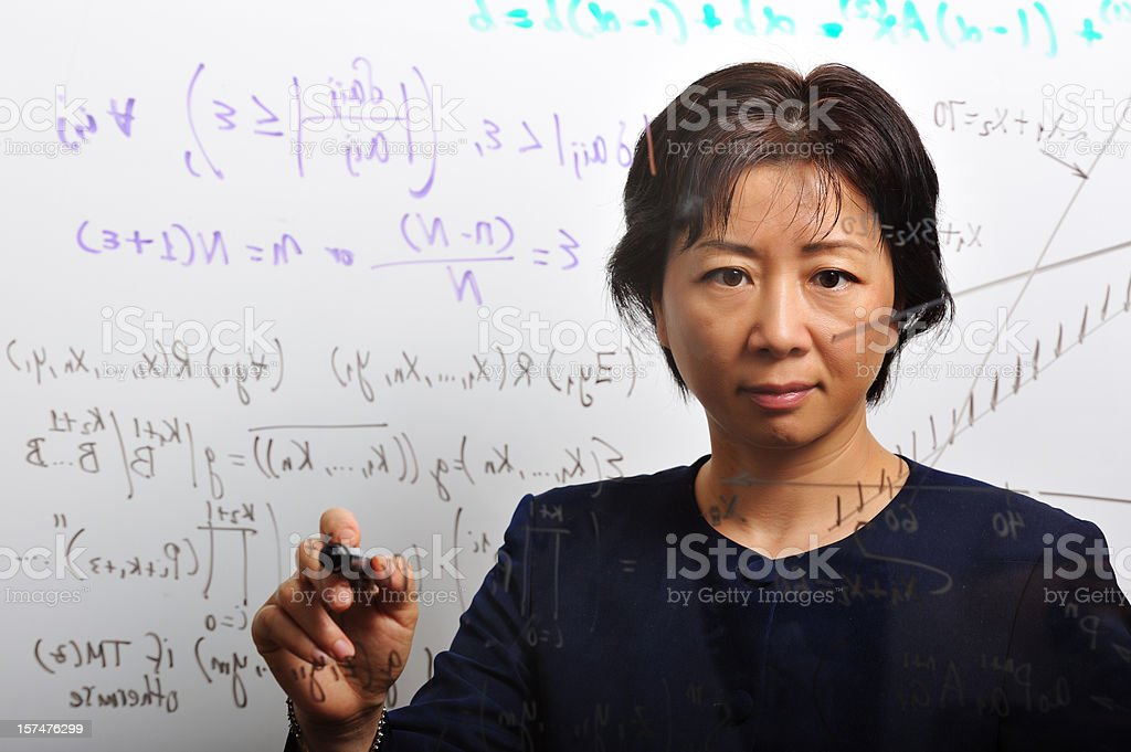 Mathematician royalty-free stock photo