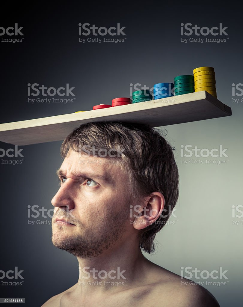 Mathematician  thoughts. stock photo
