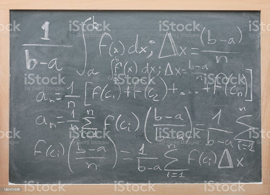 Mathematics and blackboard royalty-free stock photo