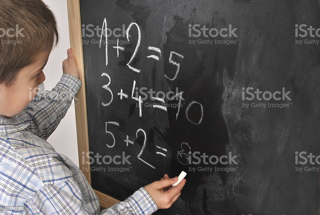 Mathematics at the primary school royalty-free stock photo