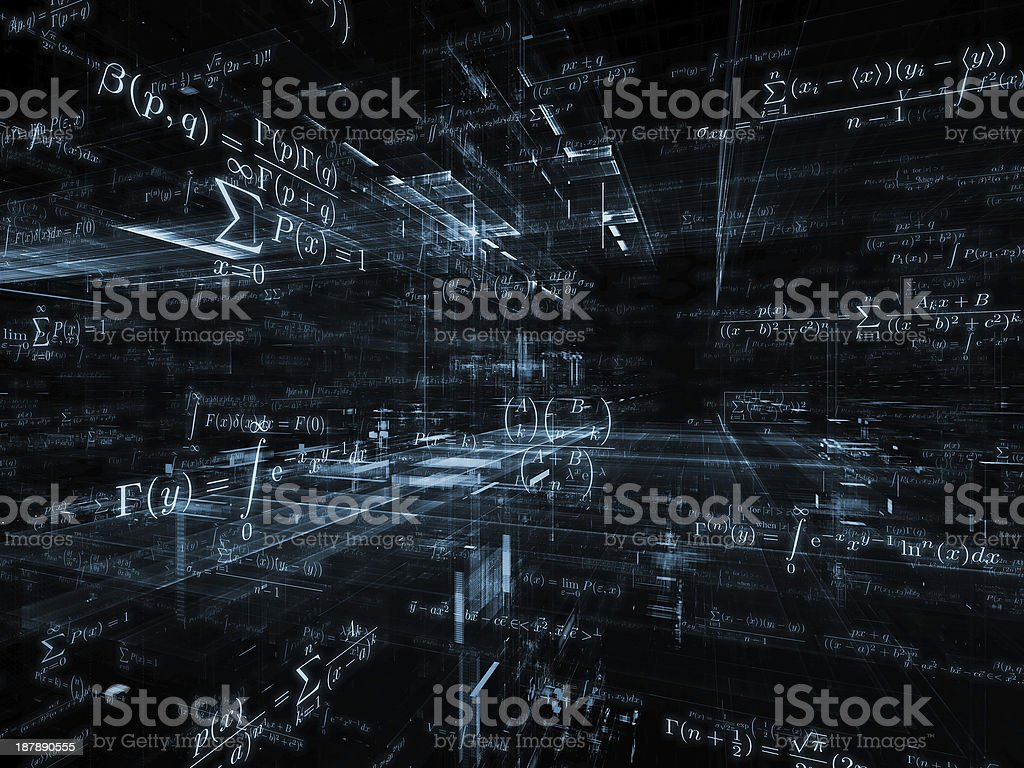 Mathematics Backdrop stock photo