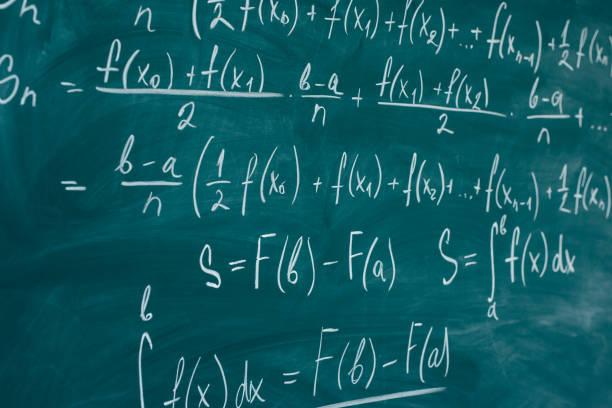 Mathematik-Unterricht differential- und Integralrechnung Tafel. – Foto