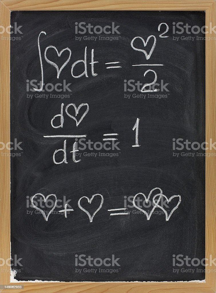 mathematics of love royalty-free stock photo