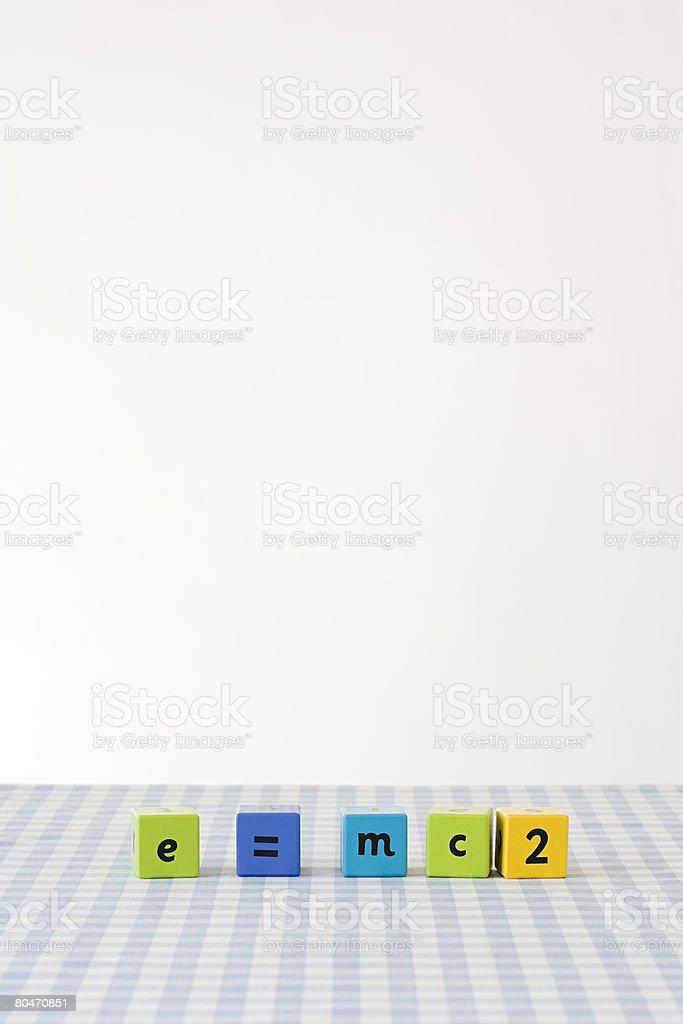 Mathematics on building blocks 免版稅 stock photo
