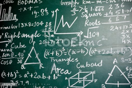 istock Mathematics Problems on a Greenboard 183362681
