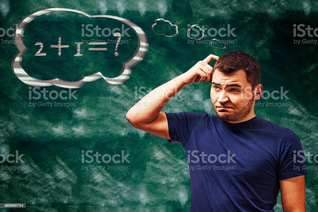 Matheproblem - Стоковые фото Взрослый студент роялти-фри