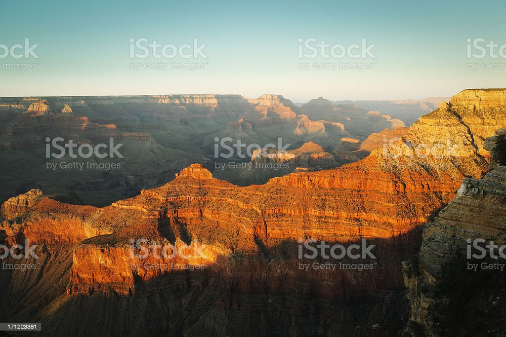 Mather Point of Grand Canyon South Rim at Sunset royalty-free stock photo