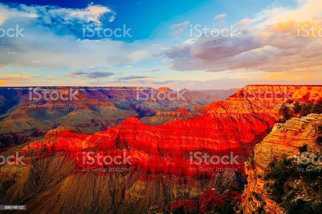 Mather Point, View Point, Grand Canyon National Park, Arizona, U stock photo