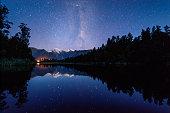 istock Matheson Lake with milky way 1147007106