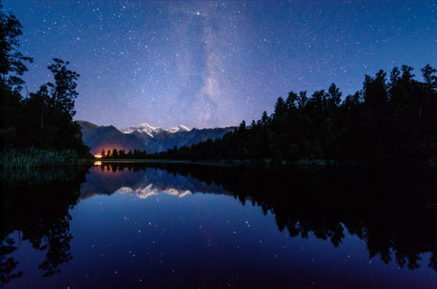 matheson lake with milky way - montana western usa stock pictures, royalty-free photos & images